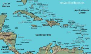 Karibien karta
